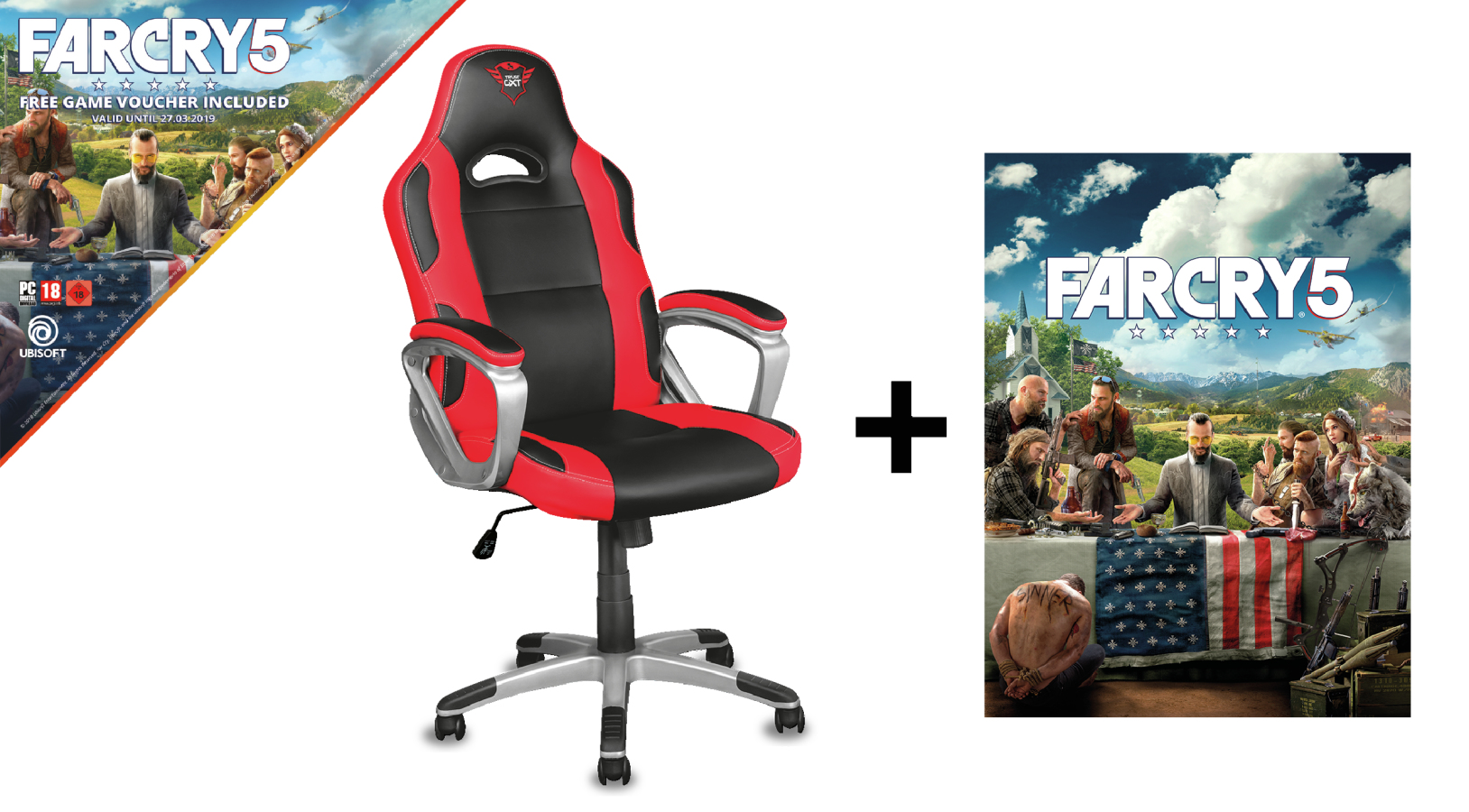 22785 Trust GXT 705 Ryon Far Cry 5 PC gaming chair - Ent01