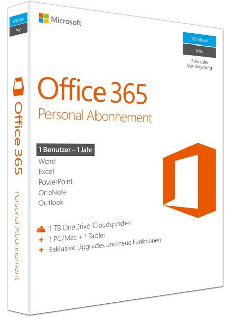 QQ2-00543 Microsoft Office 365 Personal, P2 - Ent01