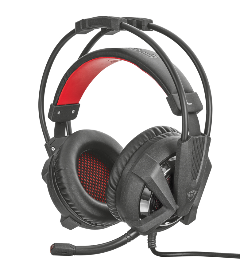 21302 Trust GXT 353 Head-band Black,Red headset - Ent01