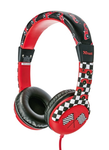 20953 Trust Spila Kids - Car Black,Red Head-band headphone - Ent01