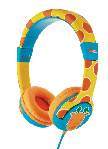 20952 Trust Spila Kids - Giraffe Cyan,Orange,Yellow Head-band headphone - Ent01