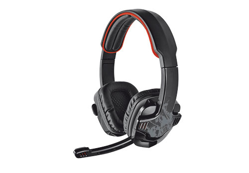 19116 Trust GXT 340 Binaural Head-band Black headset - Ent01