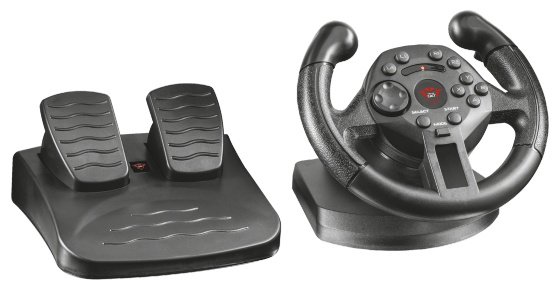 21684 Trust GXT 570 Wheel + Pedals PC,Playstation 3 Black - Ent01