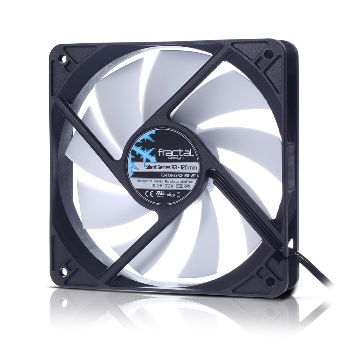 FD-FAN-SSR3-120-WT Fractal Design Silent Series R3 120 mm Computer case Fan - Ent01