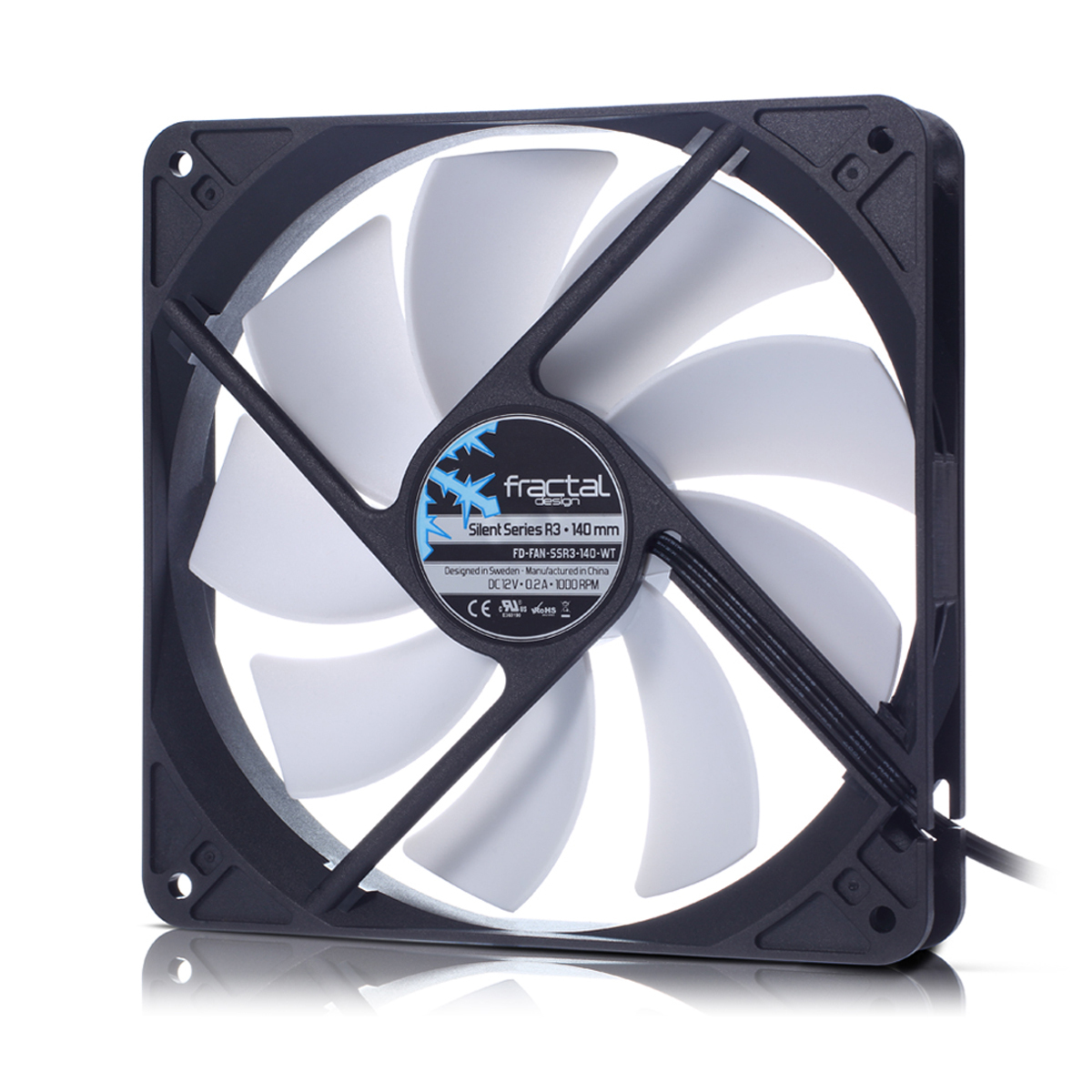 FD-FAN-SSR3-140-WT Fractal Design Silent Series R3 140mm Computer case Fan - Ent01