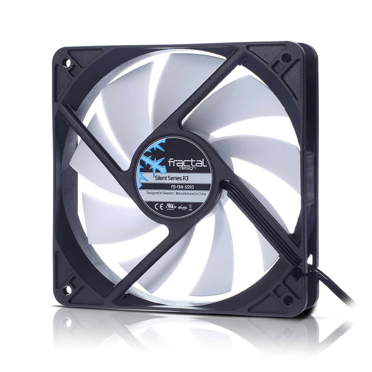 FD-FAN-SSR3-40-WT Fractal Design Silent Series R3 40mm Computer case Fan - Ent01