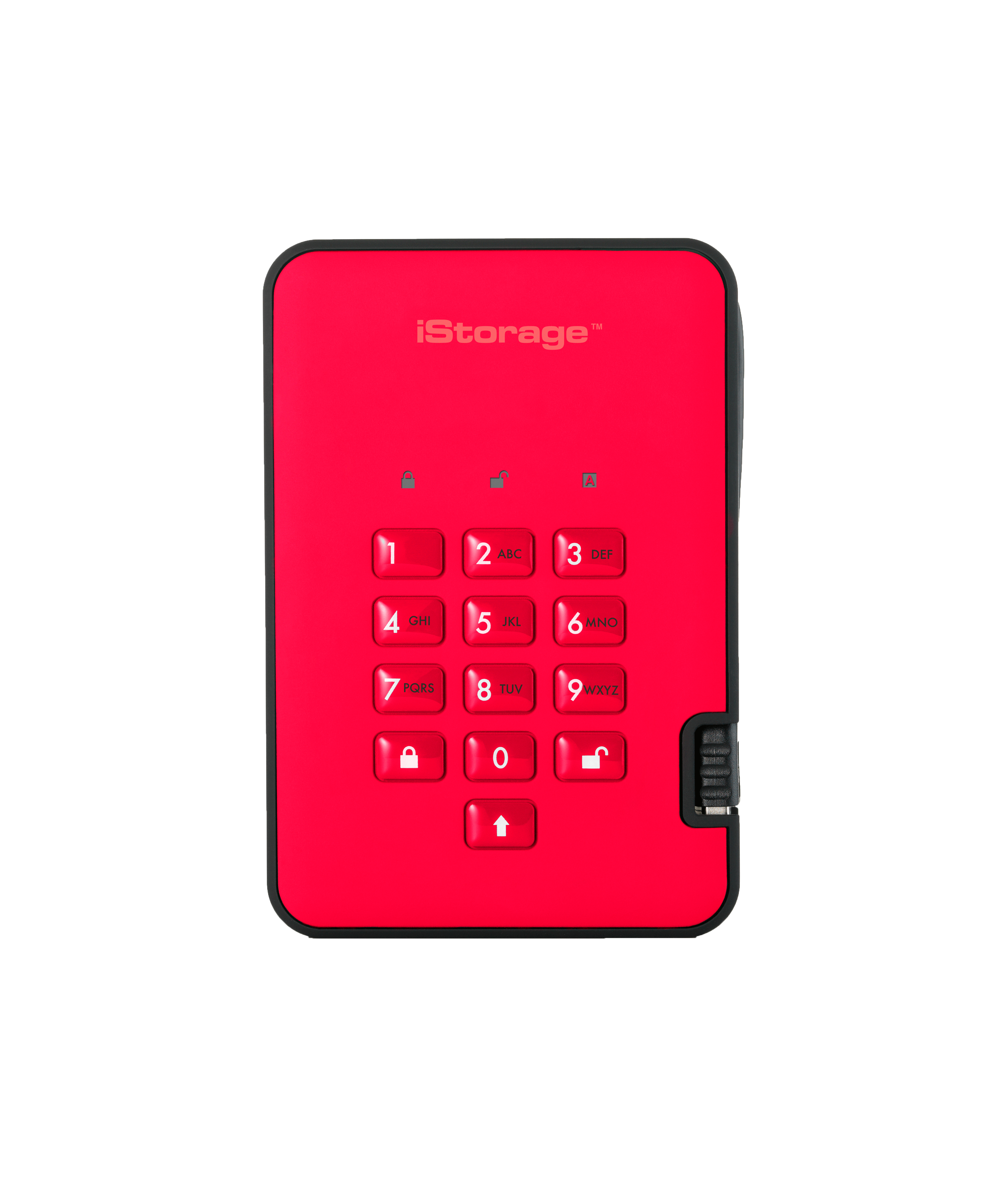 IS-DA2-256-500-R iStorage diskAshur 2 USB Type-A 3.1 (3.1 Gen 2) 500GB Red external hard drive - Ent01