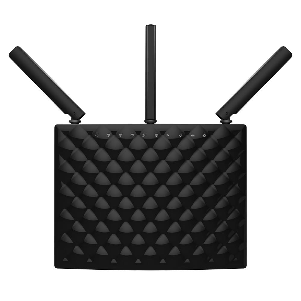 AC15 Tenda AC15 Dual-band (2.4 GHz / 5 GHz) Gigabit Ethernet Black wireless router - Ent01