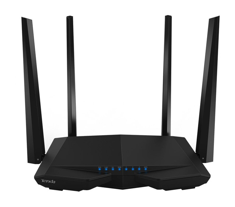 AC6 Tenda AC6 Dual-band (2.4 GHz / 5 GHz) Fast Ethernet Black wireless router - Ent01