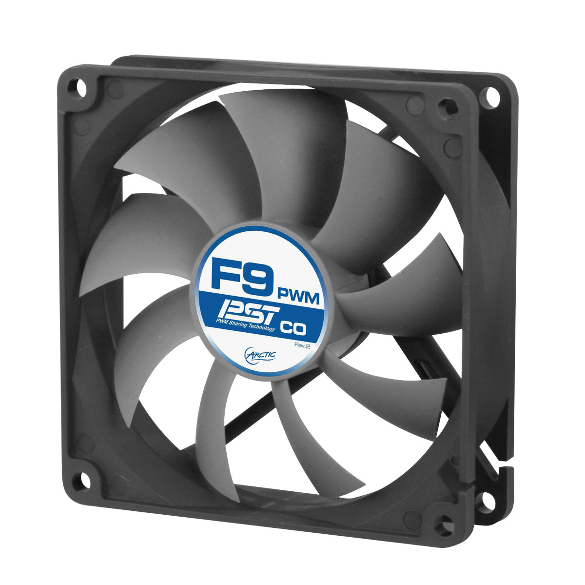 AFACO-090PC-GBA01 ARCTIC F9 PWM PST CO - PWM PST Case Fan for Continuous Operation - Ent01