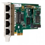 4 port modular analog PCI-Express x1 card with 4 T
