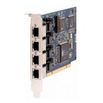 Four (4) span digital EuroISDN BRI PCI 3 card