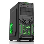 CiT Goblin Mesh Gaming Case Black/Green Interior