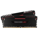 DDR4 3000MHz 16GB DIMM Vengeance Black - Red LED