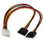 LP4 TO 2 SATA INT POWER SPLITTER CABLE