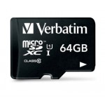 VERBATIM 64G MICRO SDXC10 WITH ADAPTER