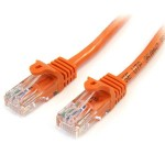 1M CAT5E ORANGE SNAGLESS RJ45 CONNECTORS