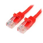 1M CAT5E RED SNAGLESS RJ45 CONNECTORS