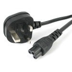 1M LAPTOP POWER CORD - 3 SLOT FOR UK