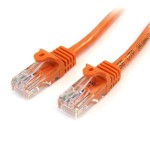 6 FT ORANGE SNAGLESS CAT5E CROSSOVER UTP
