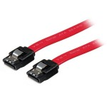 "12"" LATCHING SATA CABLE - STRAIGHT M/M"