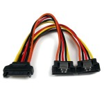 6IN LATCHING SATA POWER Y SPLITTER CABLE