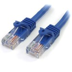 1M CAT5E BLUE SNAGLESS RJ45
