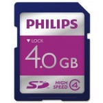 SECURE DIGITAL CARD, 4 GB SPEED CLASS 4