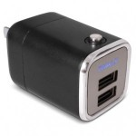 BLACK DUAL USB WALL CHARGER