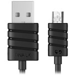 Twister Micro USB cable 1m BLACK