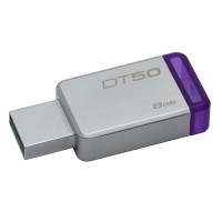 Kingston Technology DataTraveler 50 8GB 8GB USB 3.0 (3.1 Gen 1) Type-A PurpleSilver USB flash drive