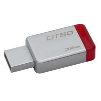 Kingston Technology DataTraveler 50 32GB 32GB USB 3.0 (3.1 Gen 1) Type-A RedSilver USB flash drive