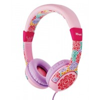 Trust Spila Kids - Flower LilacPinkRedYellow Head-band headphone