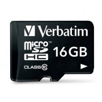 Micro SDHC 16GB - Class 10 with adapter