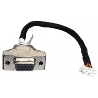 Shuttle PVG01 15-pin Mini D-Sub 2 x 10-pin BlackStainless steelWhite cable interface/gender adapter