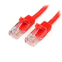 StarTech.com 2 ft Red Snagless Category 5e (350 MHz) UTP Patch Cable 0.61m Red networking cable