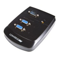 StarTech.com Wall Mount VGA Video Splitter Silver KVM switch