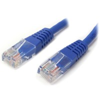 StarTech.com 2 ft Cat5e Blue Molded RJ45 UTP Cat 5e Patch Cable - 2ft Patch Cord