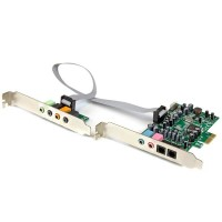 StarTech.com 7.1 channel sound card - PCI Express 24-bit 192KHz