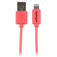 StarTech.com 1m (3ft) Pink Apple 8-pin Lightning Connector to USB Cable for iPhone / iPod / iPad