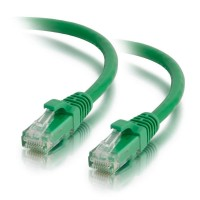 C2G 0.5m Cat5e Booted Unshielded (UTP) Network Patch Cable - Green