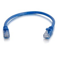 C2G 0.3m Cat5e Booted Unshielded (UTP) Network Patch Cable - Blue