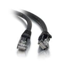 C2G 0.3m Cat5e Booted Unshielded (UTP) Network Patch Cable - Black