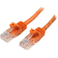 StarTech.com 45PAT50CMOR 0.5m Cat5e U/UTP (UTP) Orange networking cable