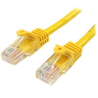 StarTech.com 45PAT50CMYL 0.5m Cat5e U/UTP (UTP) Yellow networking cable