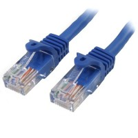 StarTech.com 45PAT50CMBL 0.5m Cat5e U/UTP (UTP) Blue networking cable