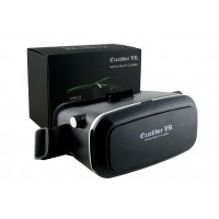 VR headset with drop down phone carrier