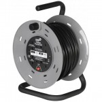 25M 13A 4SKT Heavy Duty Cable Reel w/Thermal Cut