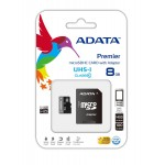 ADATA MICRO SD CLASS 10 UHS-1 W/ADAPTER 8GB