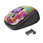 Yvi Wireless Mouse - flower power